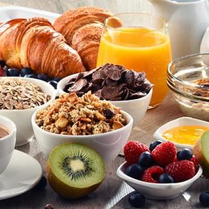 in-house breakfast, Gather restaurant, plennty of fresh food!
