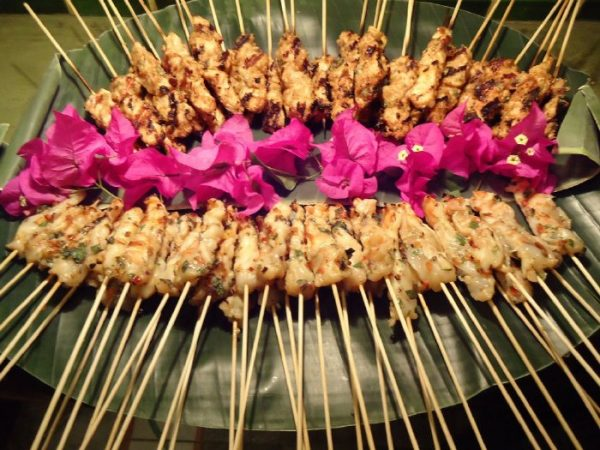 Private chef, beautiful and flavorful! our privat in-hous chef prepared these skewers for our party at EOC
